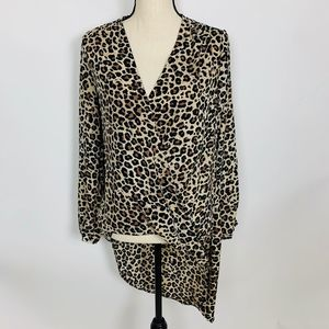 4/$25 | New York & Company Leopard Tunic XL